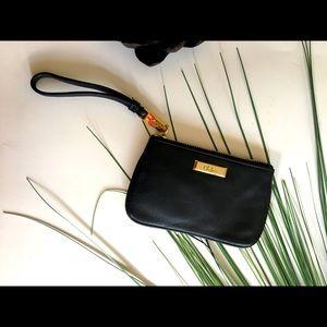 Cole Hann Black Leather Wristlet NWT